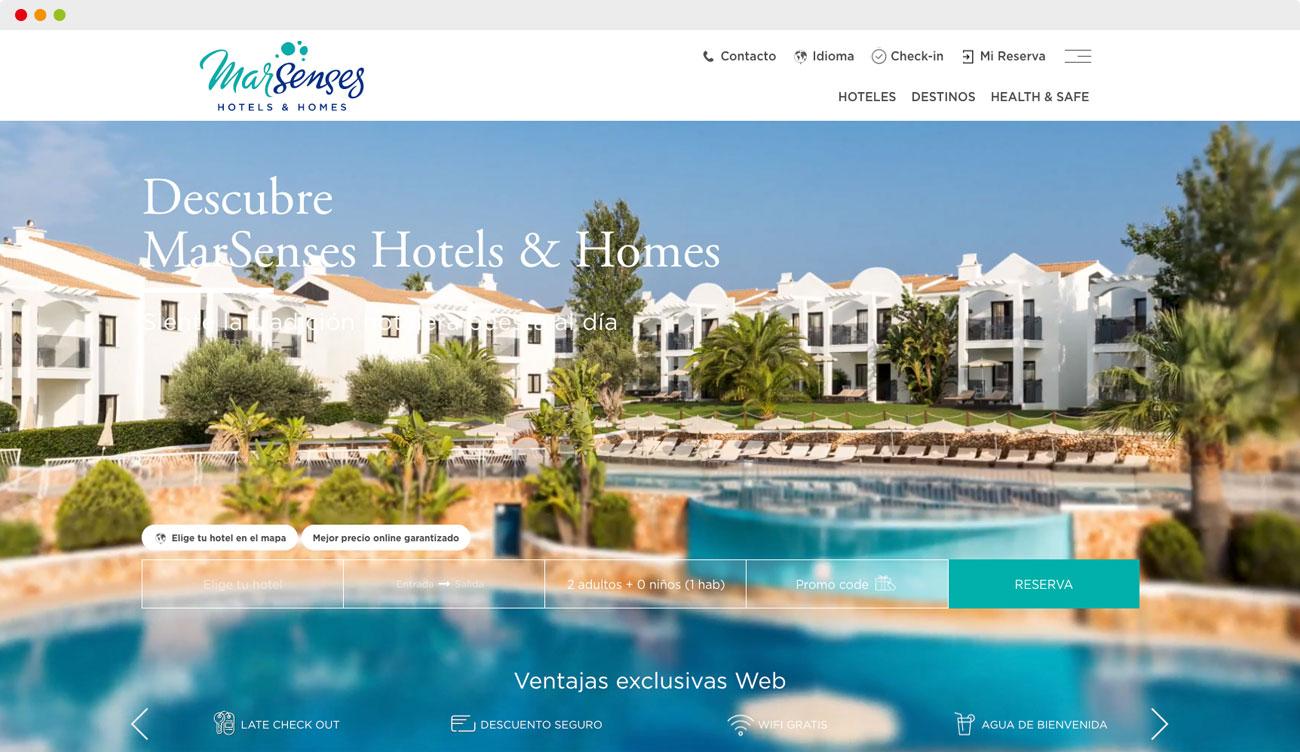 Home page del website de MarSenses